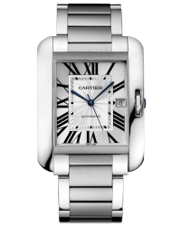Cartier Tank Anglaise  Automatic Men's Watch, Stainless Steel, Silver Dial, W5310008