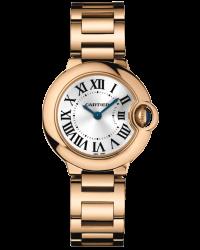 Cartier Ballon Bleu  Quartz Women's Watch, 18K Rose Gold, Silver Dial, W69002Z2
