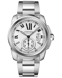Cartier Calibre  Automatic Men's Watch, Stainless Steel, Silver Dial, W7100015