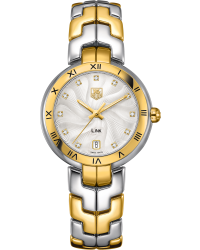 Tag Heuer Link  Quartz Women's Watch, 18K Yellow Gold, Silver Dial, WAT1350.BB0957