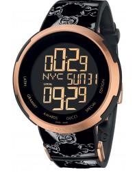 Gucci i-Gucci  Quartz Men's Watch, Stainless Steel, Black Dial, YA114102