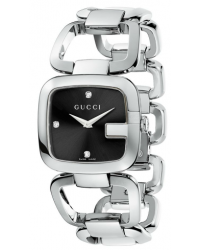 Gucci G-Gucci  Quartz Women's Watch, Stainless Steel, Black Dial, YA125406