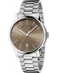 Gucci G-Timeless  Quartz Men's Watch, Stainless Steel, Brown Dial, YA126317