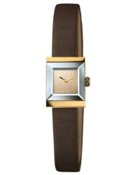 Gucci G-Frame  Quartz Women's Watch, 18K Yellow Gold, Brown Dial, YA128506